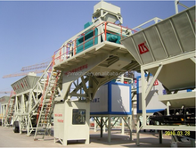 concrete mixer pump with capacity 60m3/h mobile portable small concrete mixing batching plant with lift on sale