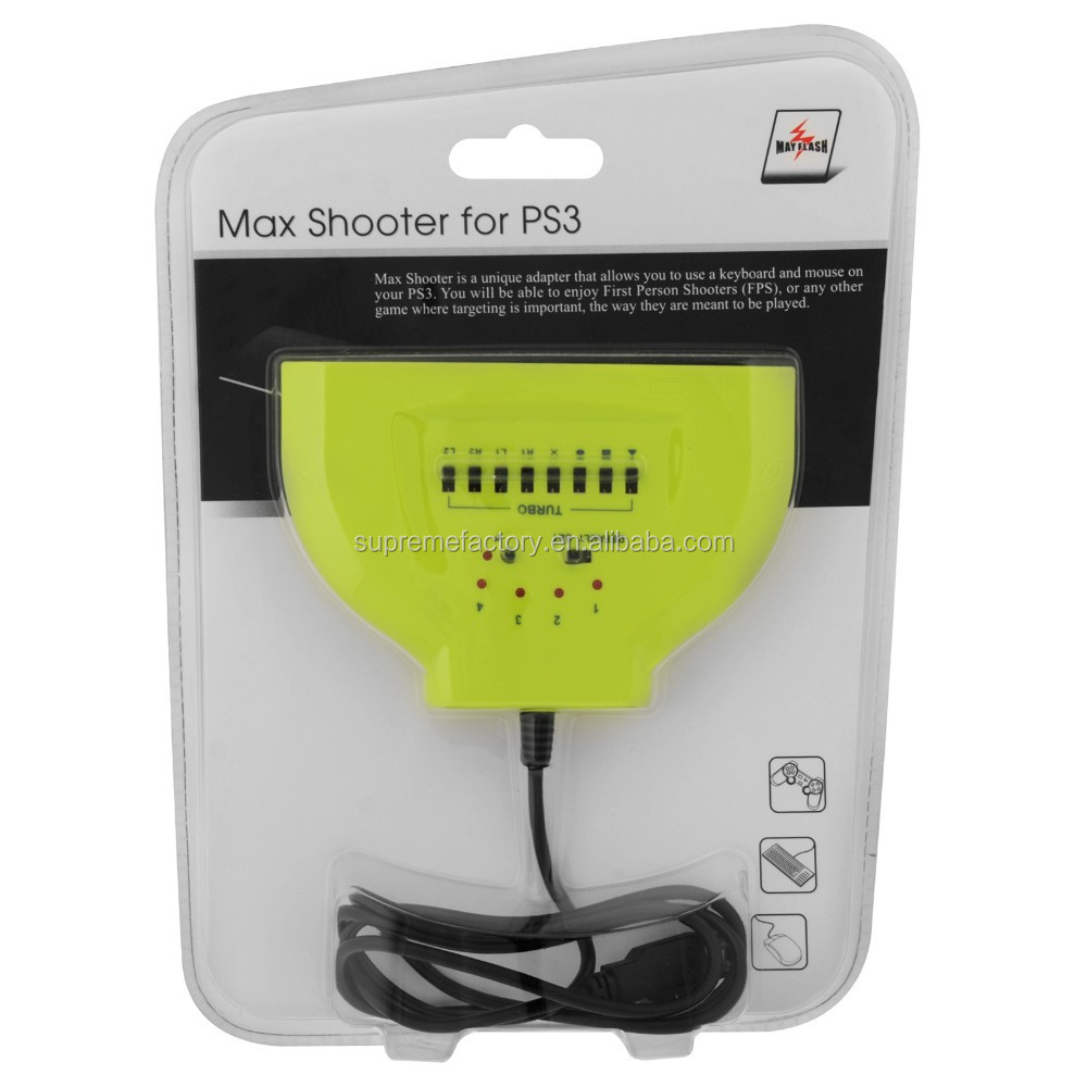 FPS Targeting Game Mouse Keyboard Adapter Converter Max Shooter For PS3 Playstation 3 Controller