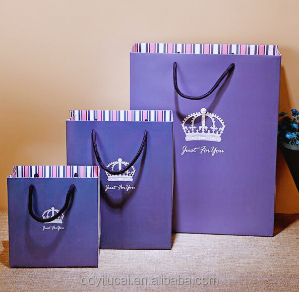 Eco-friendly fancy high quality luxury paper shopping bag