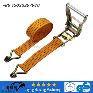 S80250 Heavy Duty 2'' Ratcheting Tie Down Strap Strip 5000 lbs Rated Capacity with Double J-Hooks