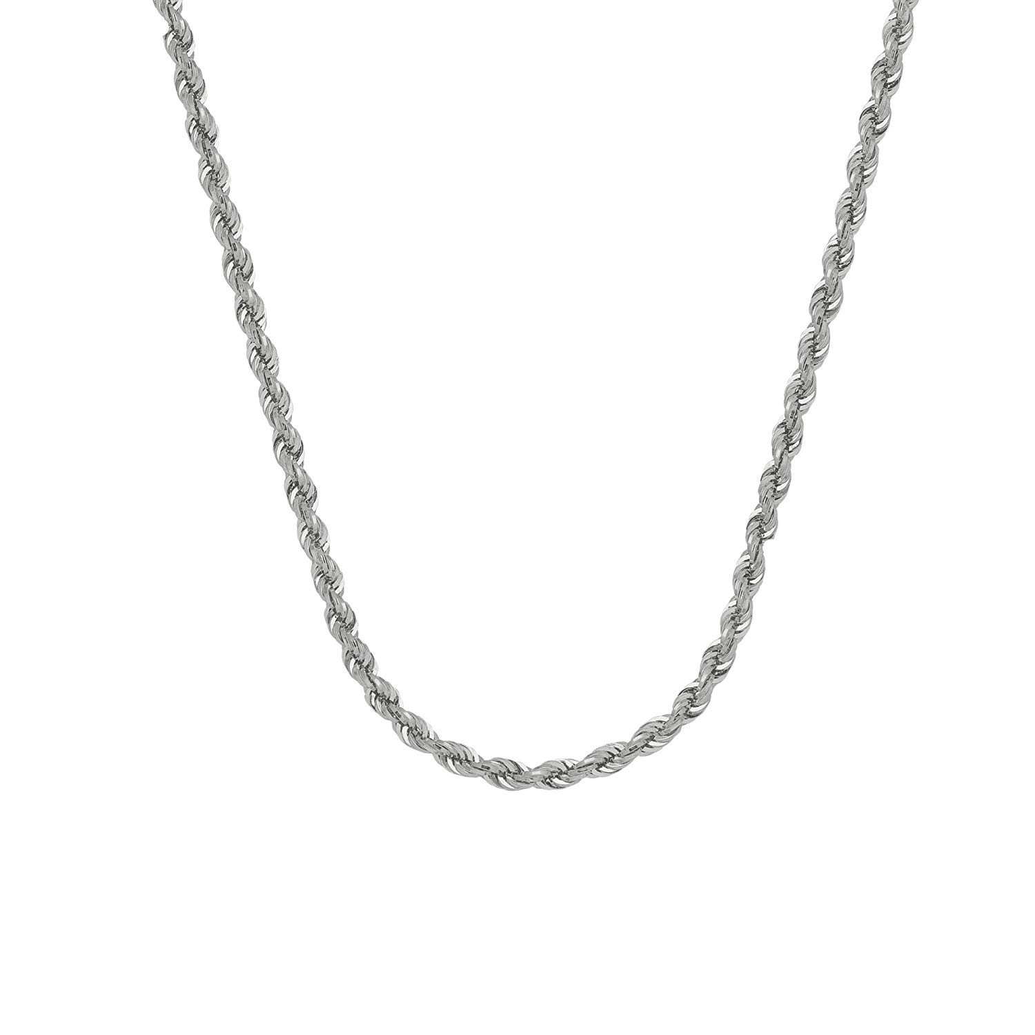 Solid Silver Fashion Jewelry Strong Wrest Rope Chain Men Women Necklace 4MM N067