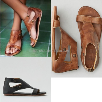 9382ebf78095 Wholesale Ladies Flat Fancy Italian Leather Gladiator Sandals