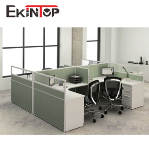 Modern space saving screwless office furniture computer workstation
