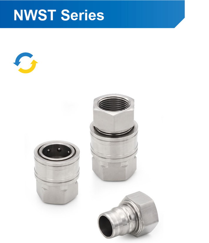 NWST Series Quick Coupling Connector, Interchargeble with Parker St Series Inteva 140 Series Cvf