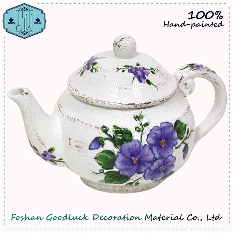 Special Hand Painted Ceramic Teapot Lavender Tea For One Tea Set