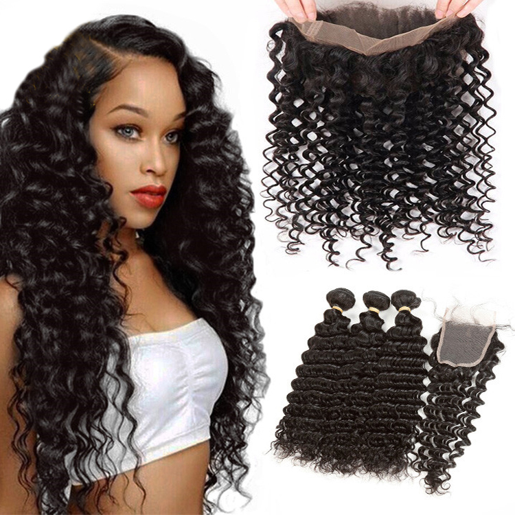 Private Label Jerry Curly Deep Wave Natural Human Remy Wigs Human Hair Lace Front, As shown