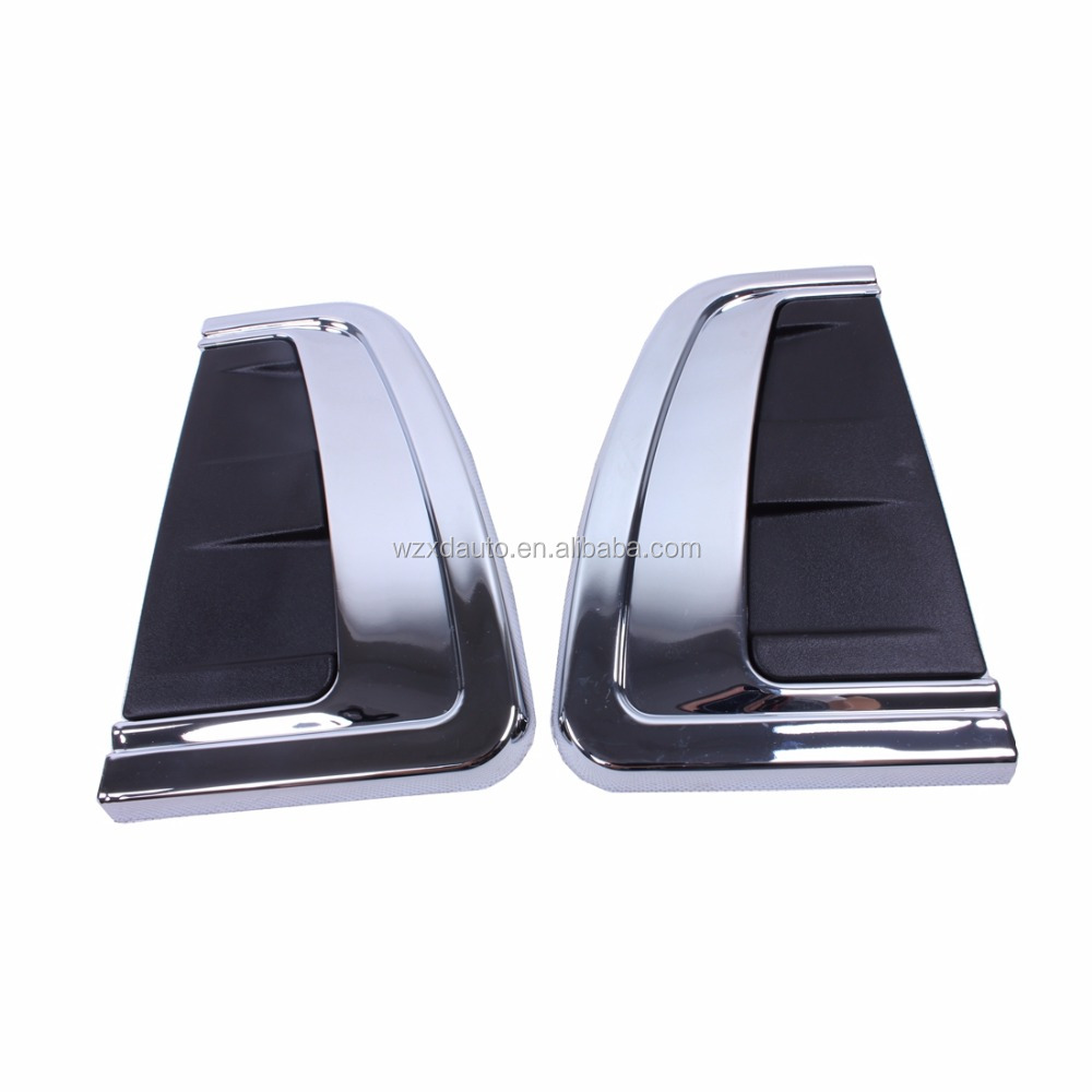 Black Side Air Bonnet Vent Hood Scoop Fender Cover Voor Fortuner 2016 Exterieur Accessoires Side Vent Cover