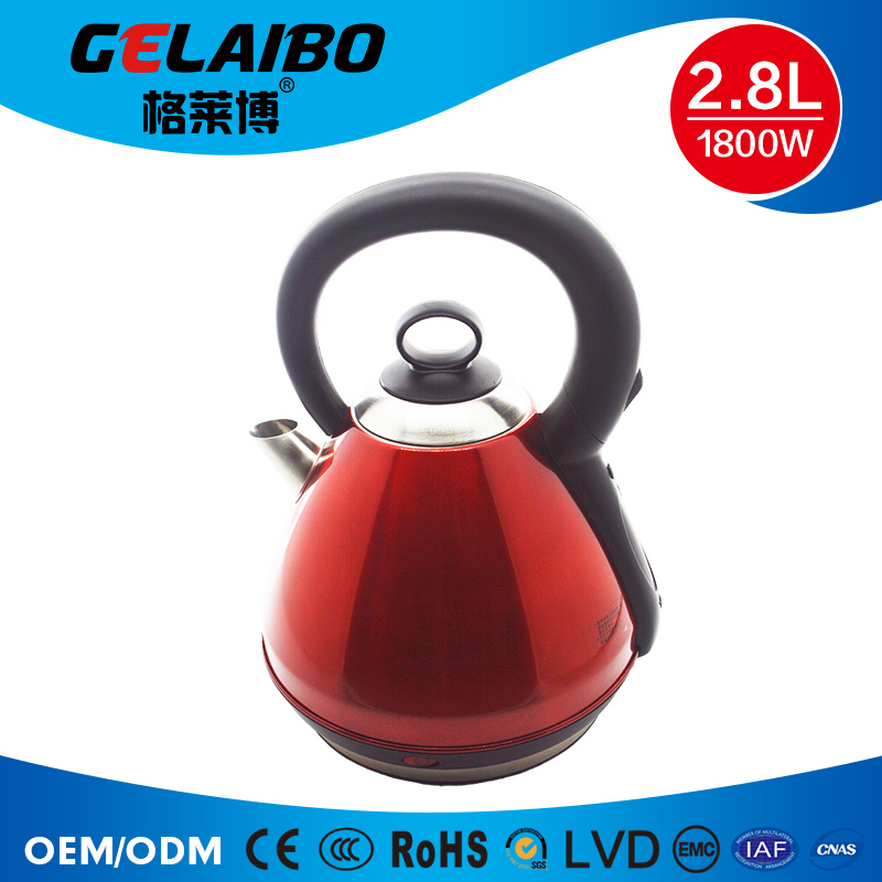 High quality stainless steel red electric kettle High-capacity electric kettle