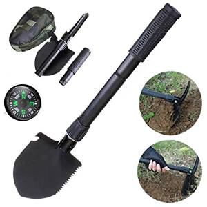 Gardening Multifunction Folding Shovel Spade Outdoor Camping Survival Tools with Compass / Multifunction Folding Shovel Spade Outdoor Gardening Camping Tools . . Foldable and mini shovel is grea