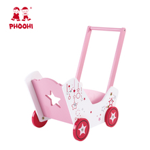 New style 역할 play toy baby 첫 워커 (karen walker) pink lovely 나무 <span class=keywords><strong>인형</strong></span> pram 대 한 doll