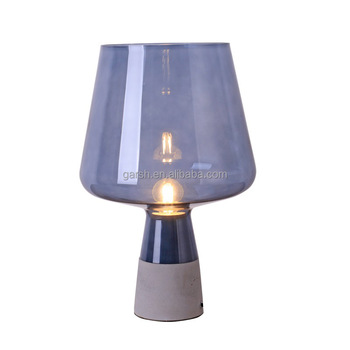 Exceptional Modern Desk Lights Nordic Style Loft Glass Shade Concrete Table Lamp