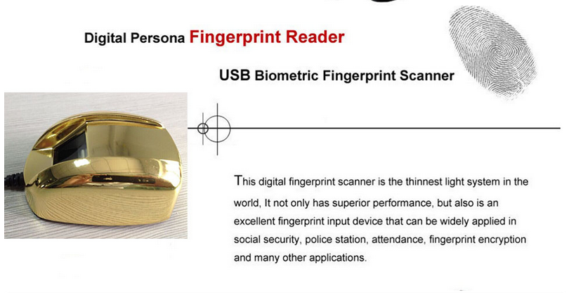 HF4000 HFSECUIRTY Free SDK Android China Fingerprint Scanner