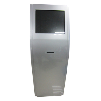 Free standing interactive all-in-one IR touch advertising kiosk cabinet on sale