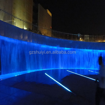 Outdoor RGB Led Light Decorative Wall Fountain