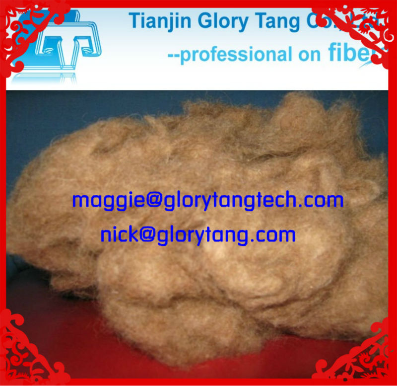 dehaired camel hair wool