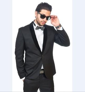 Jacketpants Wb134 Black Velvet Collar Formal Wearing Customized