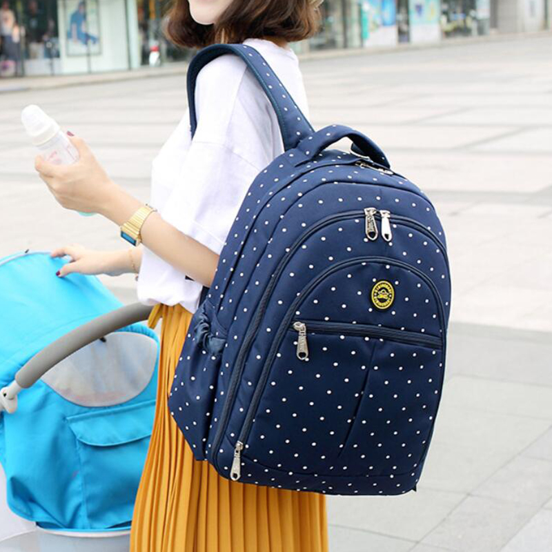 Baby Care Brand Shoulder Mummy Backpack For Mother Diaper Bags Women Maternity Stroller Organizer Dots&Floral Fashion 133