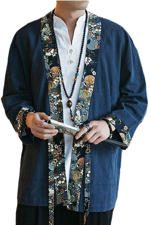 Winwinus Mens Print Plaid Long Sleeve Crewneck Pullover Hoodies Tops
