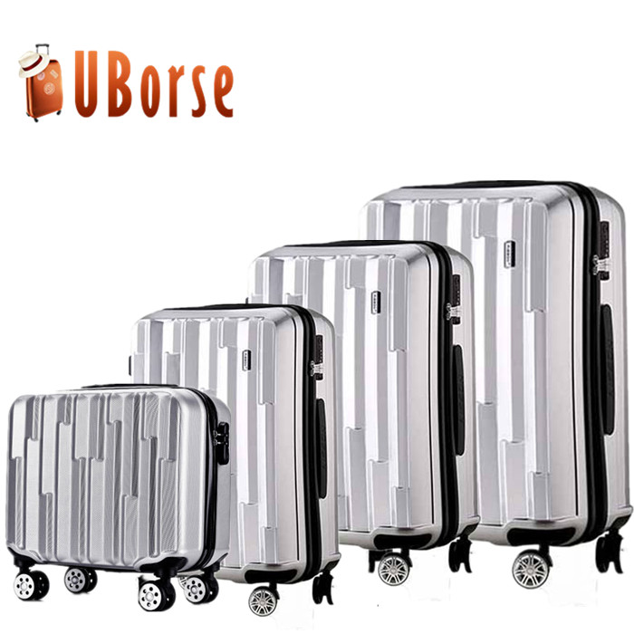 Best trolley suitcase case hard PC luggage suitcase 4 pieces universal wheels suitcase set