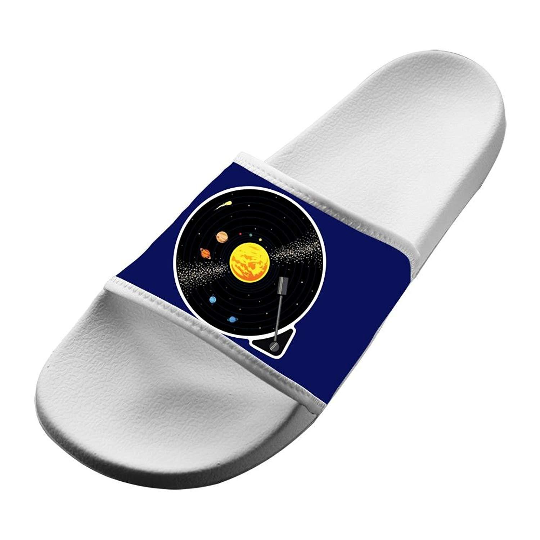 484081abb Get Quotations · Solar System Vinyl Record Slipper Unisex Indoor Slippers  Summer Anti-Slip Sandal House Slipper