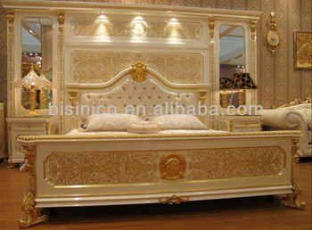 New- White & Gold Colour Luxury Gold Plated European Style Bedroom ...