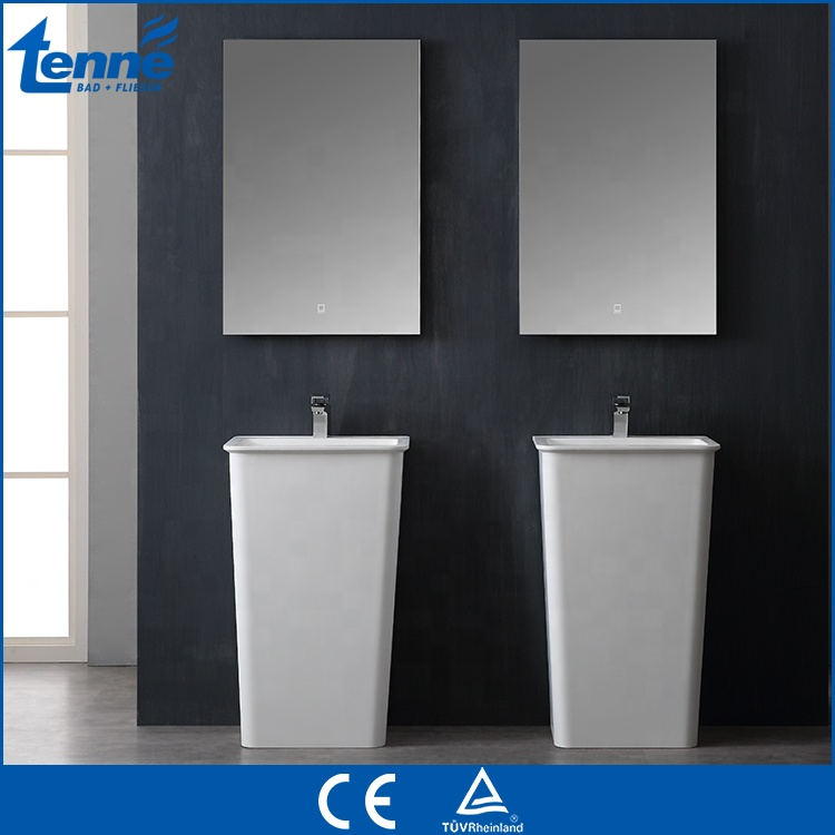 Tenne Solid surface floor mounted bathroom sink artificial stone basin