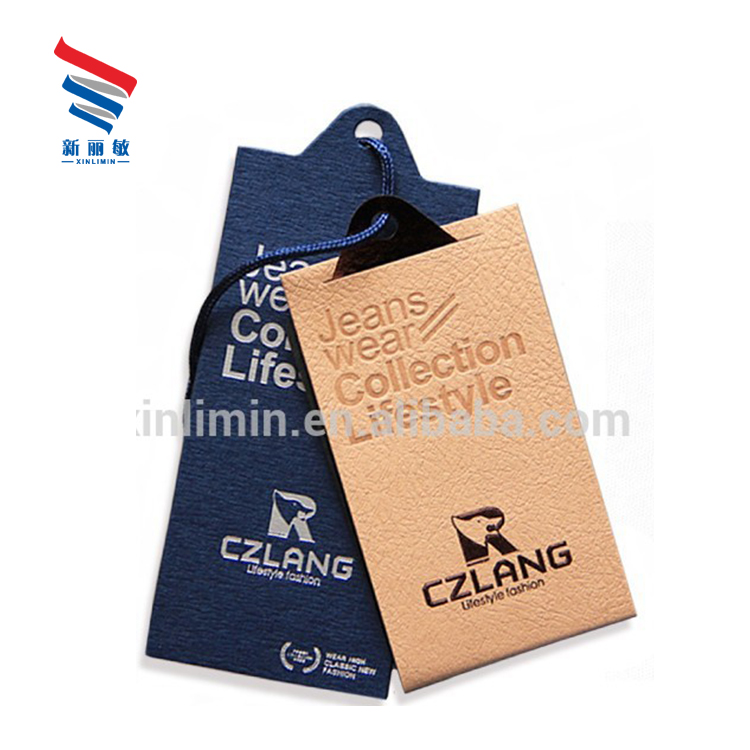 a0e3226b Custom logo printed china clothing price paper bundle hang tags and label  for jeans luggage