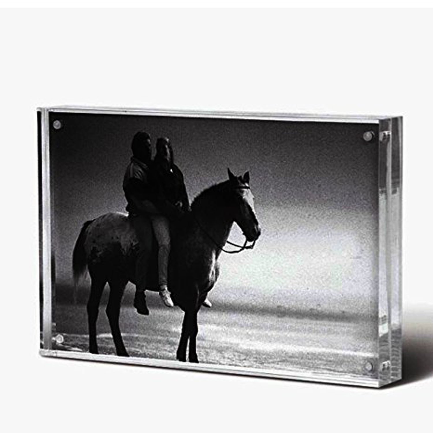 "Standing Magnetic Clear Acrylic Perspex Photo Frames Block(3.5x5"")"