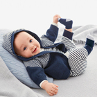 Autumn Winter Outfit New Baby Boys Clothes Hoodies + Long-Sleeved Romper Two-Pieces Set