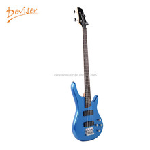 Wholesale cheap china blue electric four string bass guitar for sale
