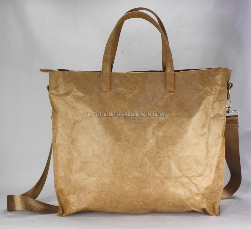 Tyvek bag brown paper tote bag kraft crossbody bag
