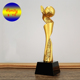 2018 Fashion Design World Cup Trophy Soccer Ball Award Resin Sport Trophy