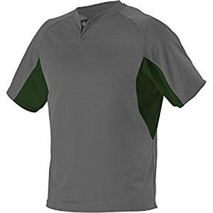 Alleson Adult 2-Button Henley Baseball Jersey
