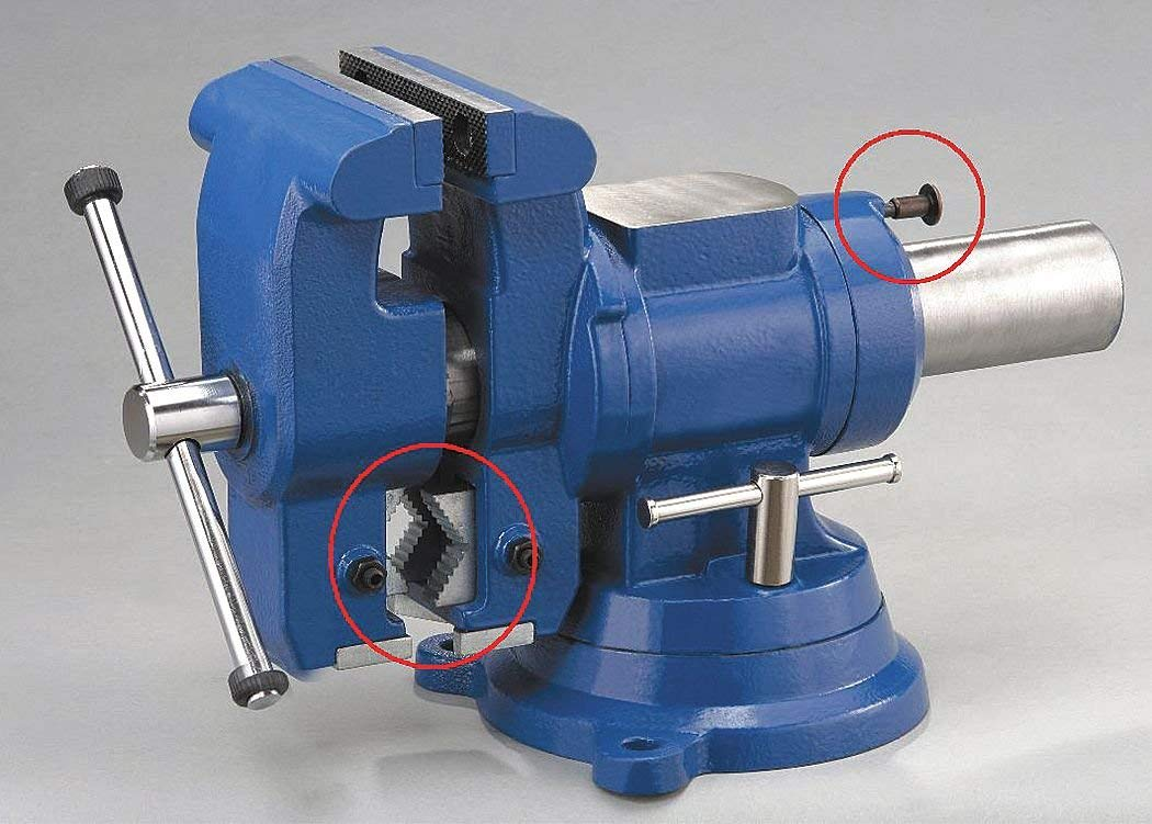 """3/"""" Drill Press Vise with Swivel Base WESTWARD 10D740"""