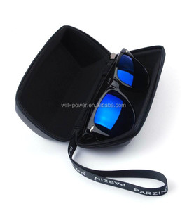 newest custom zipper sunglasses case leather glasses case
