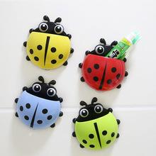 Cute Ladybug new Cartoon Sucker snails Toothbrush Holder suction hooks / Household Items / toothbrush rack / bathroom set YT1337