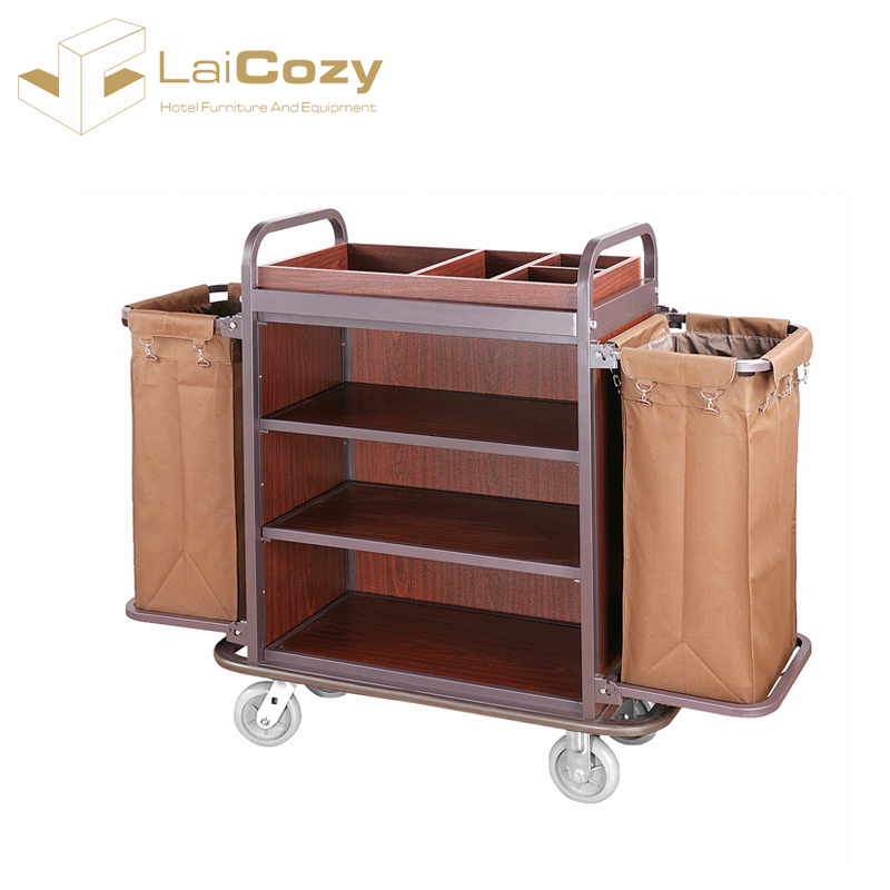 High Quality Housekeeping Hotel Trolley Room Cleaning Service Cart