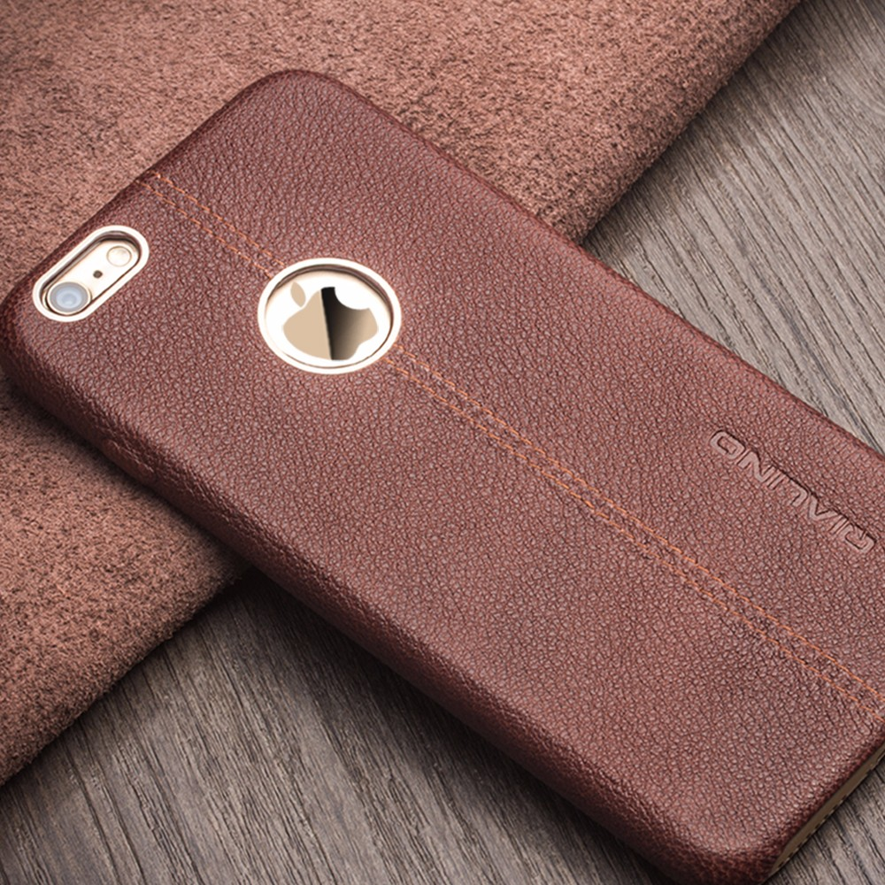 QIALINO Pure Hand Made Real Leather Mobile Phone Case For Iphone 6 6S Accessories, For iPhone 7/ 7 plus, 8, Black;brown;pink;red.