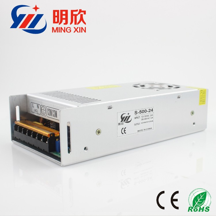 adjustable dc 0- 24V 20A 500w led switching power supply ,dc 24v power supply with 2 years Warranty ,24v 500w LED driver