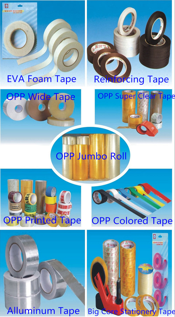 2019 Customized Transparent/Yellowish BOPP Adhesive Tape for Carton Sealing