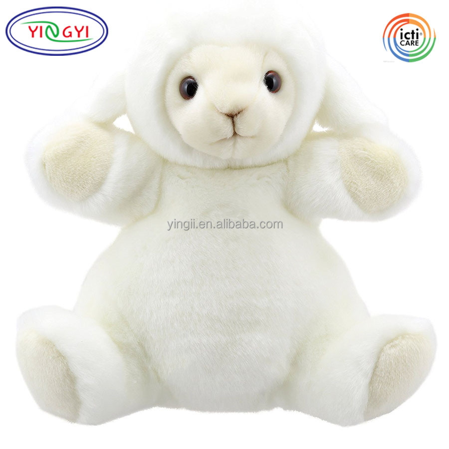 A239 Ideal Gifts Full Body Plush Sheep Lamb Hand Puppet Stuffed Stage Pretend Play Toy Sheep Puppet
