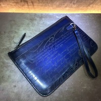 TERSE top brand new release genuine leather clutch bag mens hand wallet handmade wrist bag with wholesale price