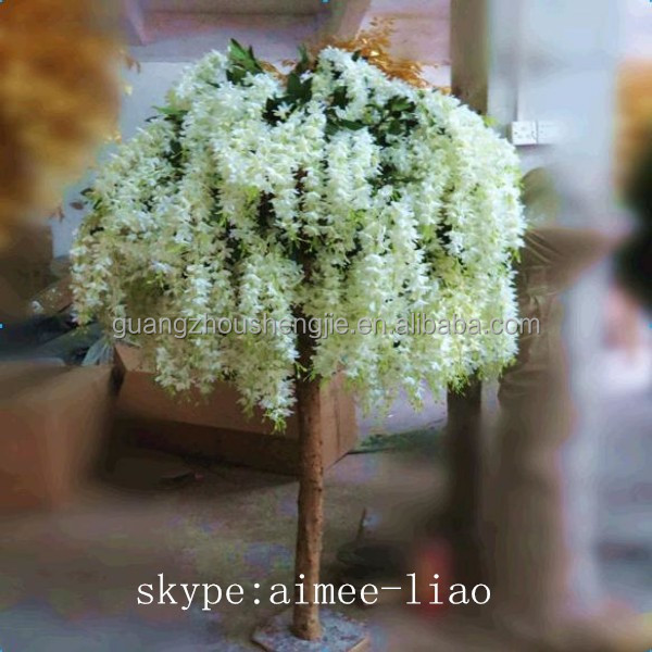 Q012707 White Tree For Party Decoration Artificial Wisteria Flower Tree  Wedding Table Tree Centerpieces   Buy Wedding Table Tree Centerpieces,White  Tree For ...