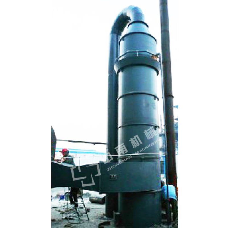spiral-flow type water film desulfuration dust collector