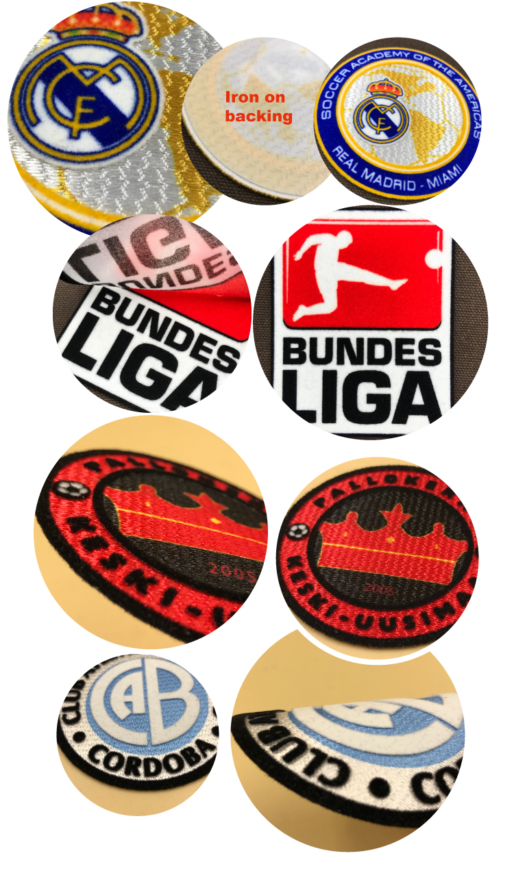 High quality custom design logo Custom soccer flocking patch
