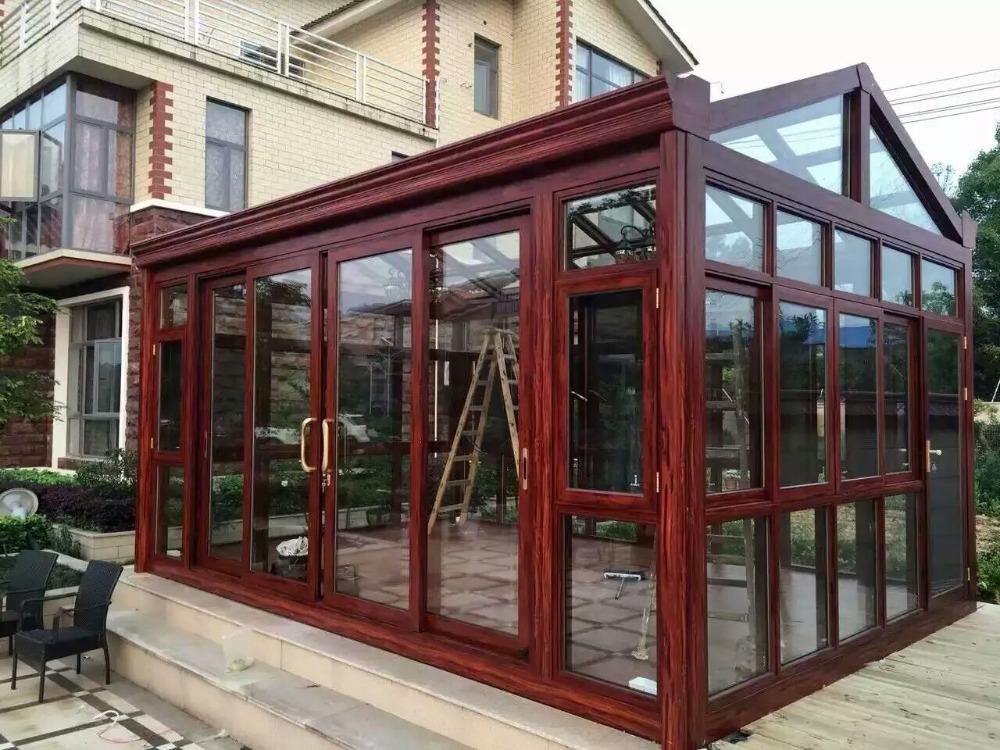 Tetto di triangolo alluminio utilizzato veranda con vetro sunroom e la casa di vetro id prodotto - La casa di vetro ...