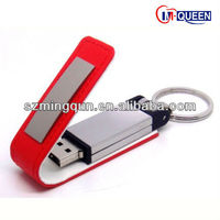 New Product Gadget Custom Leather USB Stick Flash Drive Innovation 2013 Promotion