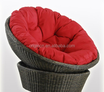 Floor Design Round Plastic Cane Woven Summer Garden Leisure Furniture  Outdoor Mamasan Rattan Chairs