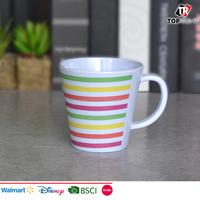 Unbreakable BPA free melamine coffee mug with handles