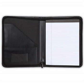 (High) 저 (Quality Black PU Leather 파일 Business 폴더 A4 Business Portfolio